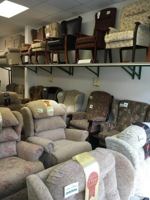 High Seat Chairs Barnsley Rise & Recline Adjustable Beds Re-upholstery South Yorkshire 01226 204809