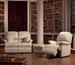 Lisbon Fixed 2-Seater Settee, Recliner & Stool-Box